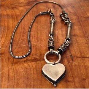 RARE N0848 Silpada Sterling Silver Heart Necklace